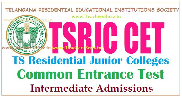 TSRJC CET 2019
