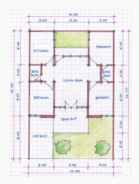 layout of house plan A-07b