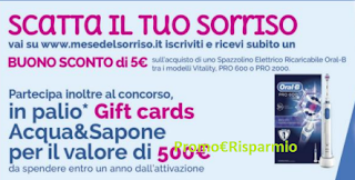 Logo ''Scatta il tuo sorriso'': ricevi subito buono sconto da 5 € e vinci Gift Card da 500 €