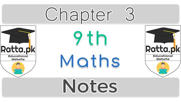 Chapter 3 Logarithms 9th Maths