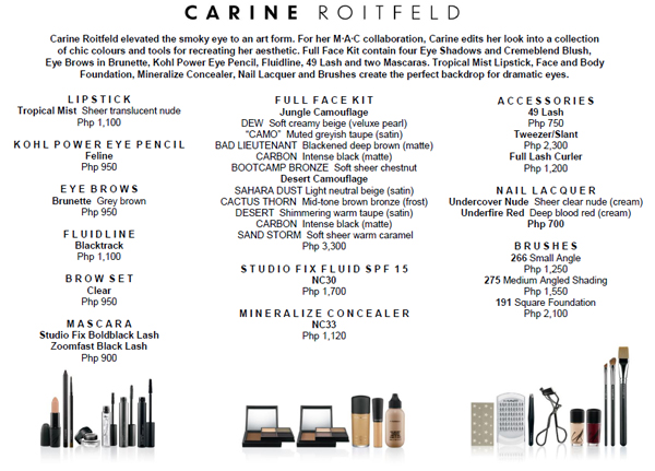 mac cosmetics products and prices philippines