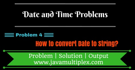 Java program that converts Date to String.