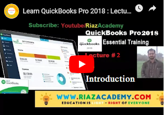 Learn Quick-Books Pro 2018 - Lecture # 2: INTRODUCTION