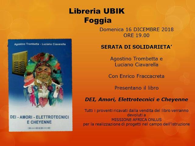Foggia, alla libreria Ubik è di scena la solidarietà, acquista un libro per Missione Africa Onlus