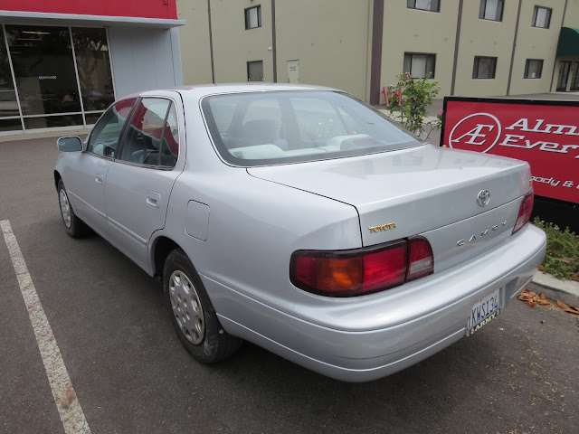 1995 Toyota Camry after dent repairs & color change at Almost Everything Auto Body