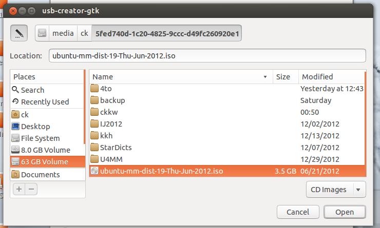 ubuntu how to create bootable usb