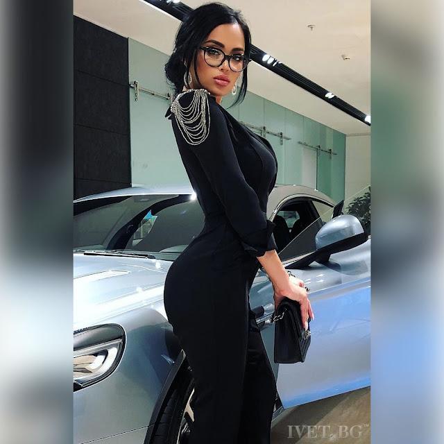 Μακρυμάνικη μαύρη ολόσωμη φόρμα BOYANA