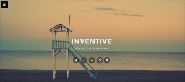 inventive - шаблон для landing page - сайт визитка