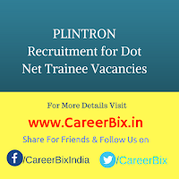 PLINTRON Recruitment for Dot Net Trainee Vacancies