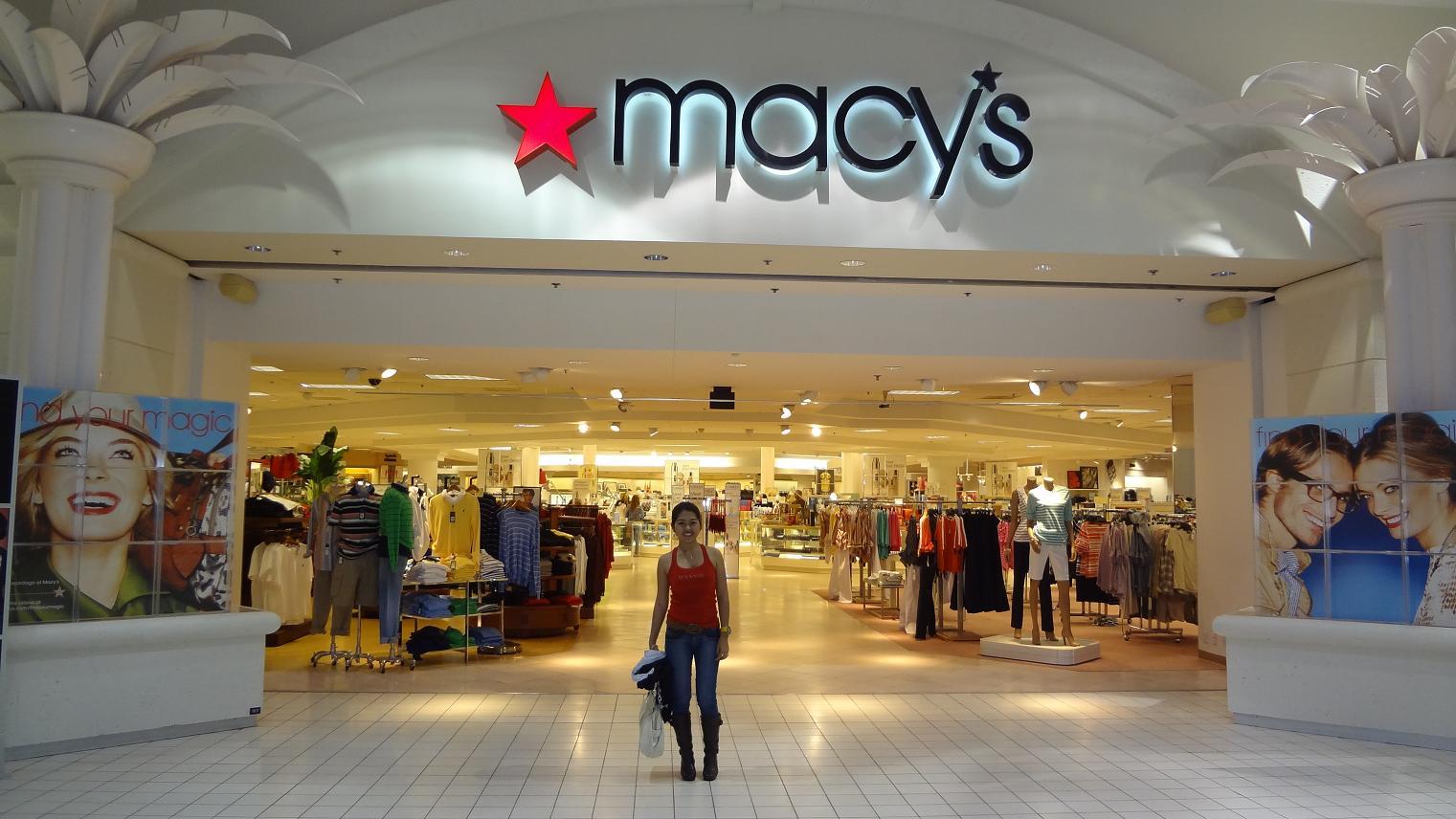 Loja Macy's em Miami e Orlando