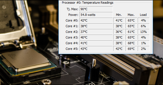 how to find computer temperature windows 10