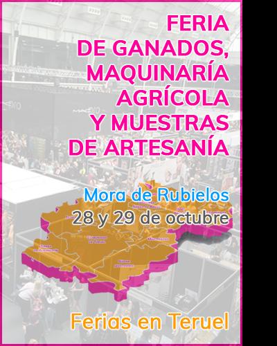 Feria de ganados, maquinaría agrícola y muestras de artesanía