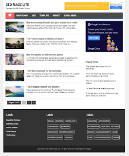 Template Blog Seo Responsive Fastload Premium Free Download