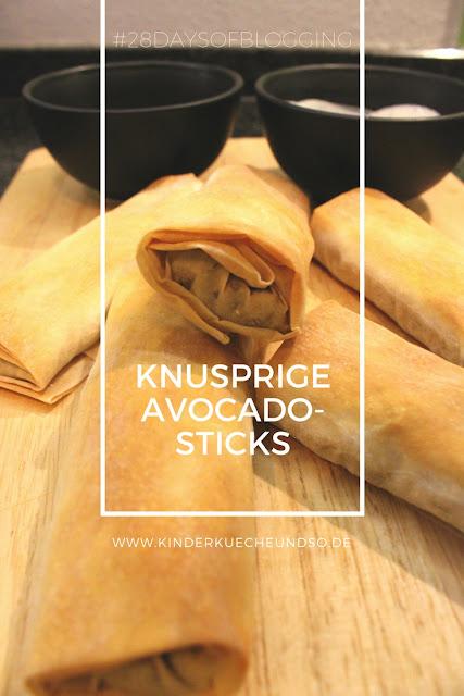 knusprige Avocadosticks zum Dippen