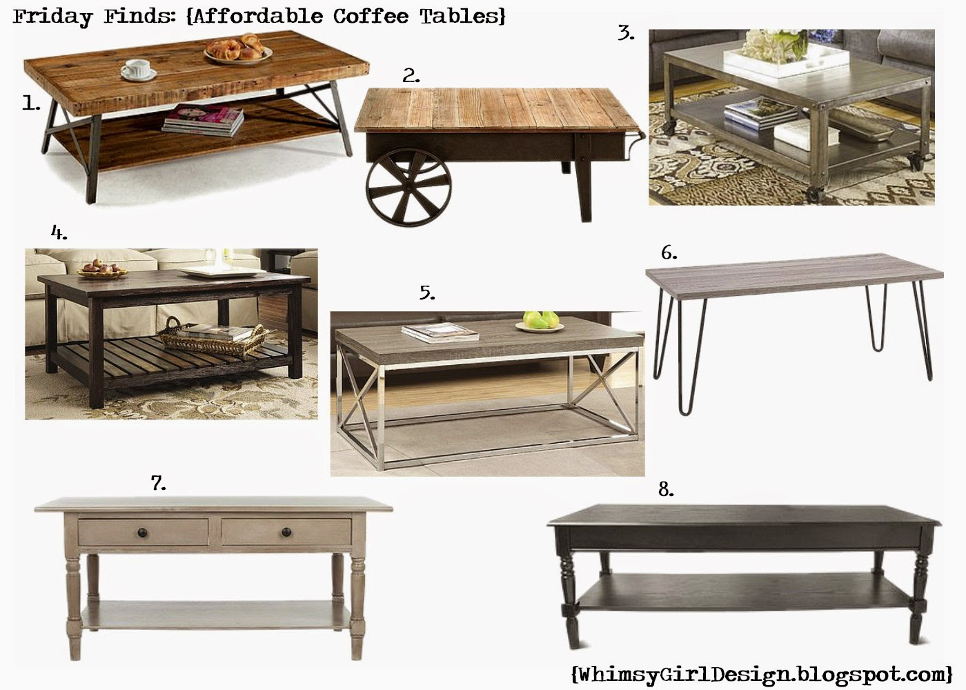 whimsy girl: Friday Finds: {Affordable Coffee Tables}