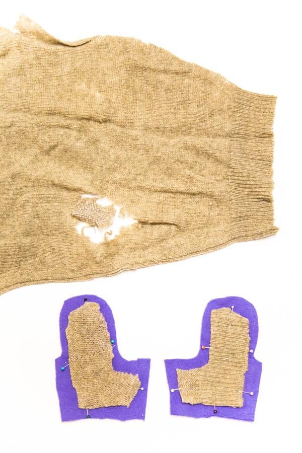 Nahkarukkasten vuoriin lisälämmikettä villapaidasta