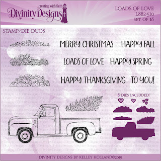 Divinity Designs LLC Loads of Love Stamp/Die Duos