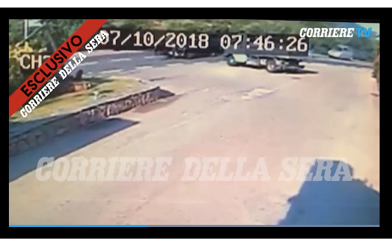 Shocking video shows the brutal moment George Clooney crashes his bike and is thrown into the air