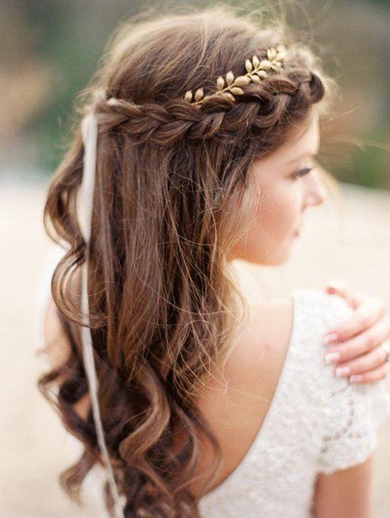 La Moda En Tu Cabello Peinados Para Novias Con Pelo Largo
