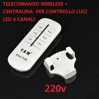 TELECOMANDO 4 CANALI