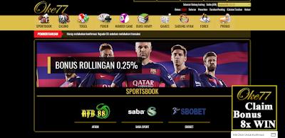 Oke77 Adalah Situs Bandar Togel Online, Taruhan Judi Bola Dan Agen Live Casino Slot Games SBOBET Terpercaya Di Indonesia.