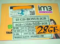 Perdana Indosat 23 Gb 24jam (Indosat kuota 23gb)
