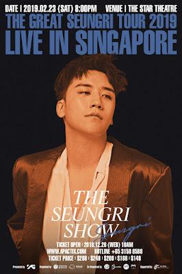 The Great Seungri Tour 2019 Live in Singapore #SeungriinSG