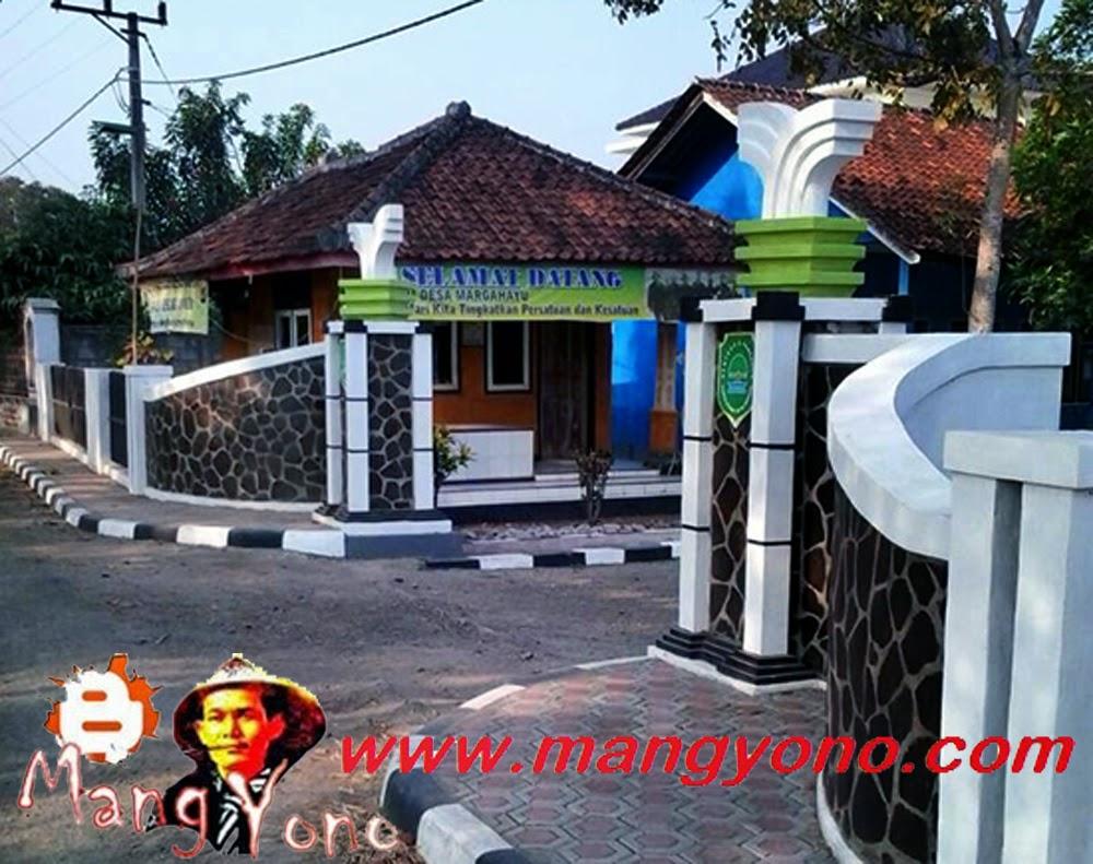 Gerbang dan Gapura Desa Margahayu. Poto jepretan Kang Nugraha Aye-Aye, Facebooker Subang ( FBS )