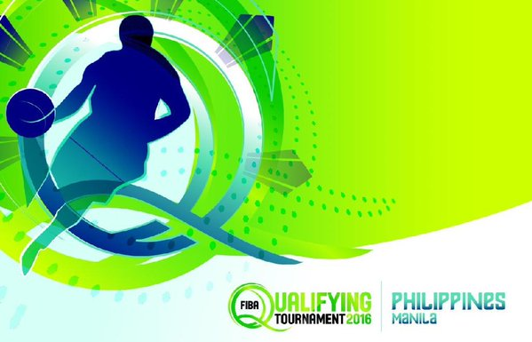 Official Logo: 2016 FIBA Olympic Qualifying Tournament in Manila
