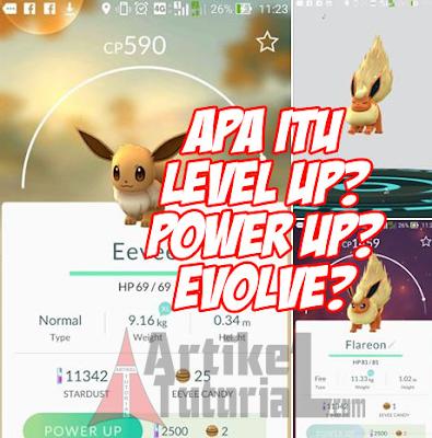 Penjelasan Lengkap Tentang Level Up, Power Up dan Evolve Pada Game Pokemon Go