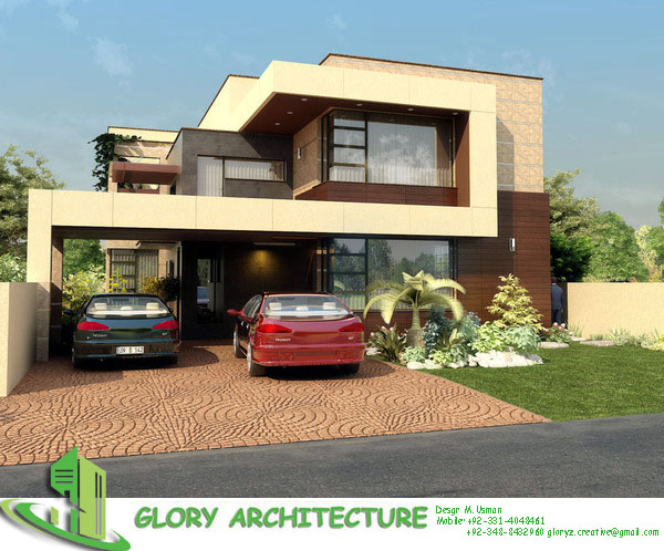 D Front Elevation Kanal : Kanal house elevation glory architecture