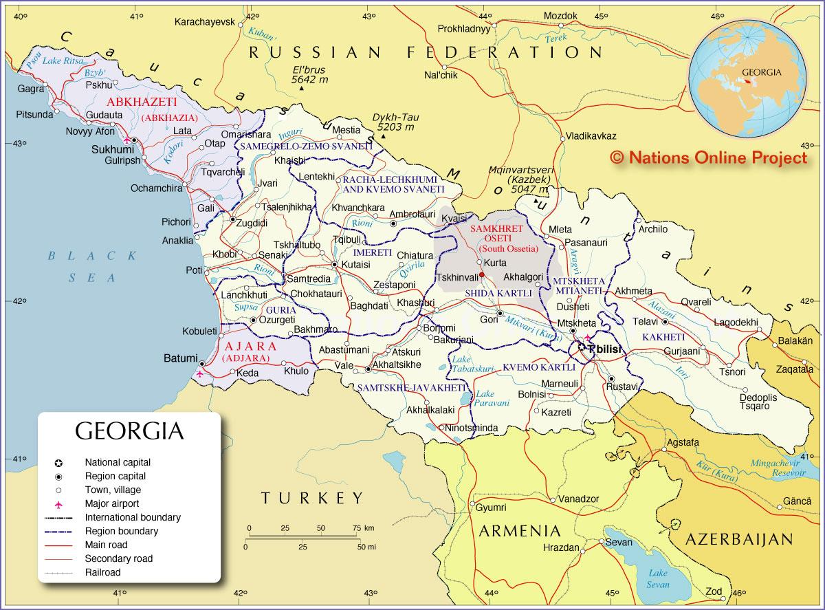 Geórgia | Mapas Geográficos da Geórgia