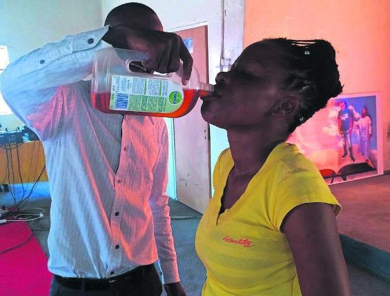 South-African Pastor Gives Church Members Dettol Antiseptic To Drink [Photo]