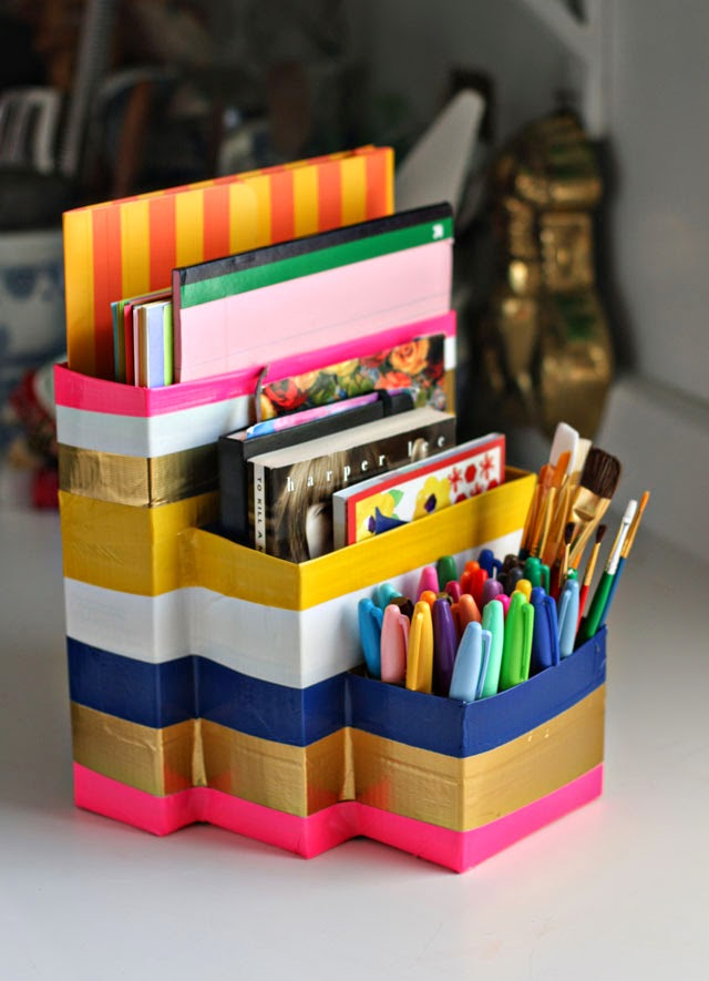 A Desk of Cardboard for The Back to School