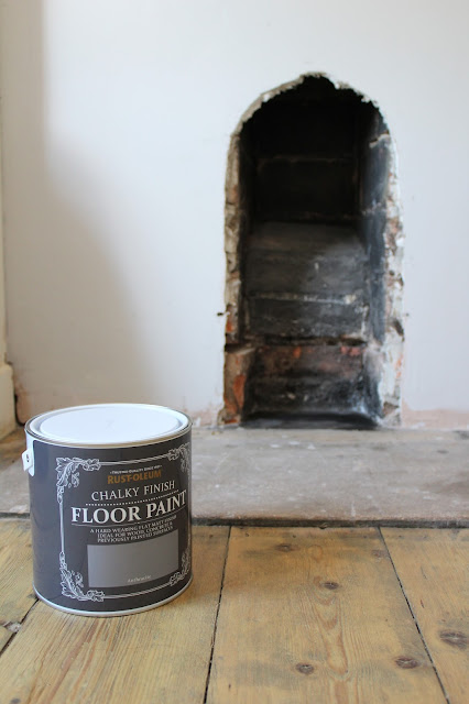rustoleum chalky finish floor paint on hearth