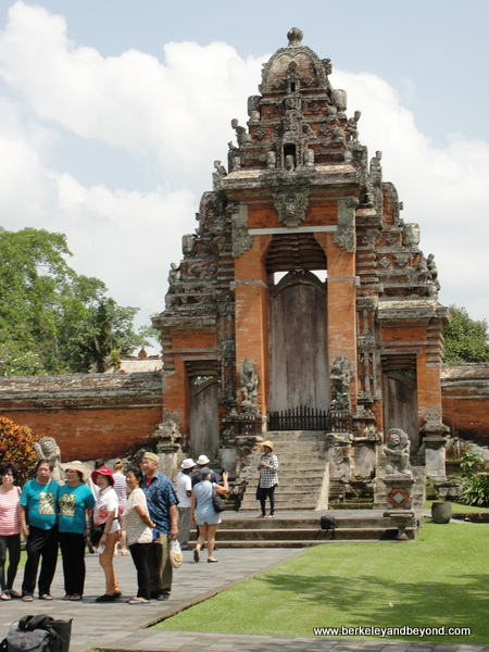 interior gate at Taman Ayun Temple  in Mengwi village, Bali