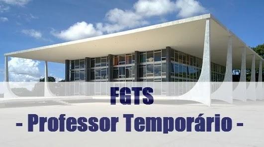 Professor temporário direito FGTS