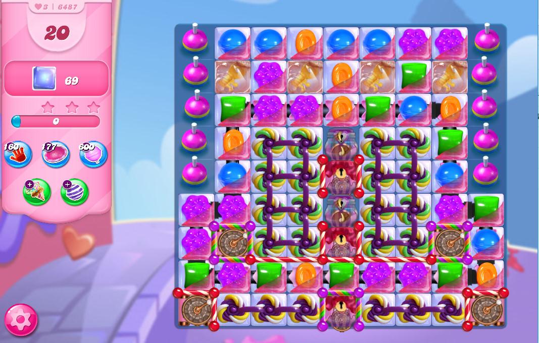 Candy Crush Saga level 6487