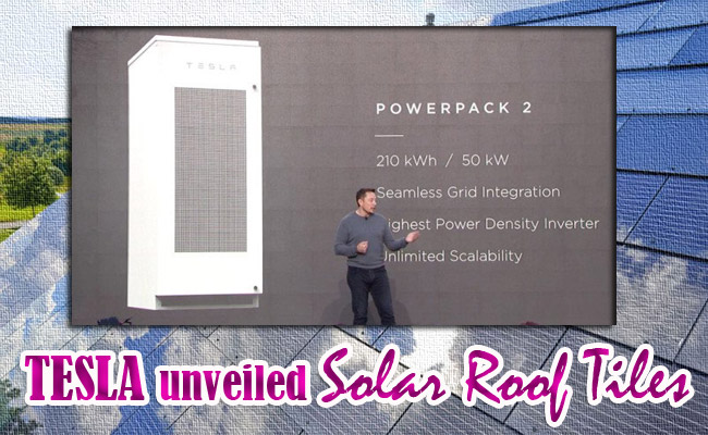 TESLA unveiled Solar Roof Tiles