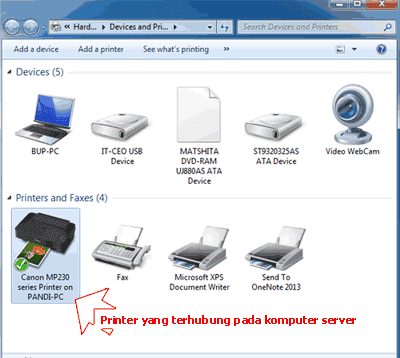 Memeriksa-Printer-dalam-homegroup-pada-Devices-and-Printers