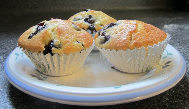 Food Lust People Love: Quick Bread Breakfast Muffins is great basic recipe that is easily adaptable to whatever additions you'd like to make.  Blueberries, raspberries, dried cranberries, chopped strawberries, grated apples, chocolate chips, raisins, nuts, cinnamon sugar, etc.  (Grated apples AND cinnamon sugar?  Divine.  Dried cranberries and white chocolate?  Ditto.)  As you can see, the potential is huge.