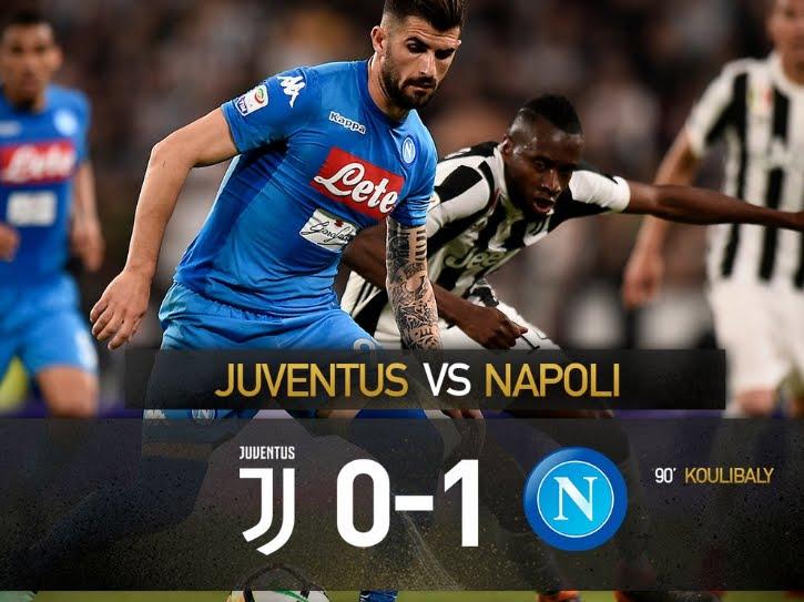 Juventus sconfitta allo Stadium dal Napoli: risultato deciso dal gol di Koulibaly al 90'