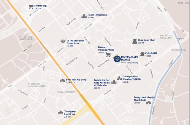 Vị trí đắc địa tại dự án chung cư Rivera Park Hà Nội