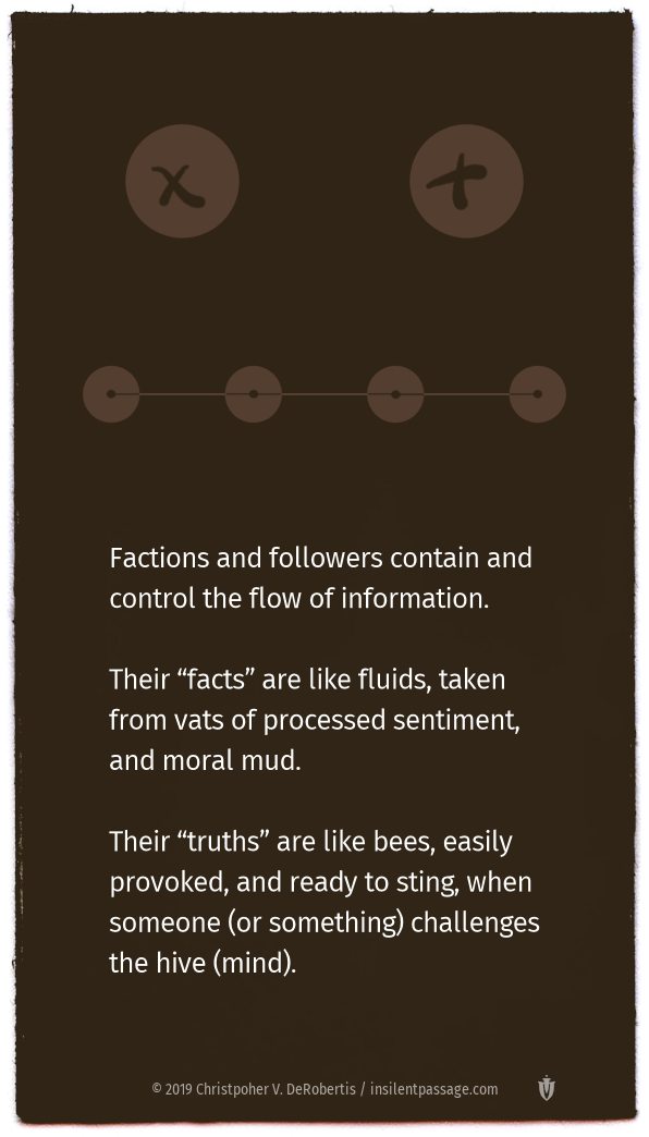 Pod 5: Factions and Followers Copyright 2019 Christopher V. DeRobertis. All rights reserved. insilentpassage.com
