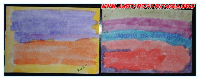 Pintura Salpicada Arco íris Artes visuais para crianças