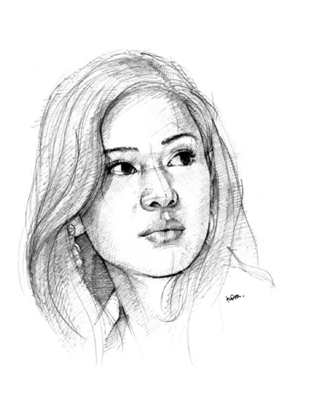 Gambar Sketsa Bentuk Wajah