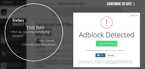 Forbes AdBlock Detector