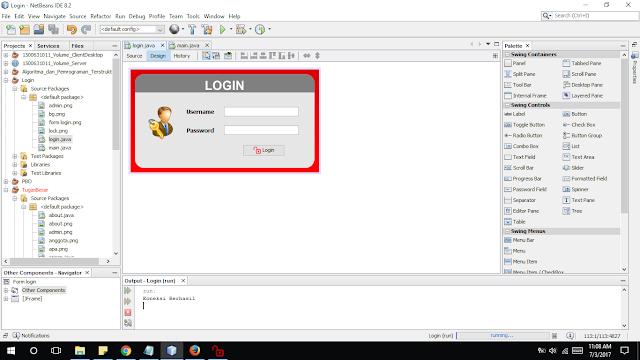 membuat login dengan database mysql pada java