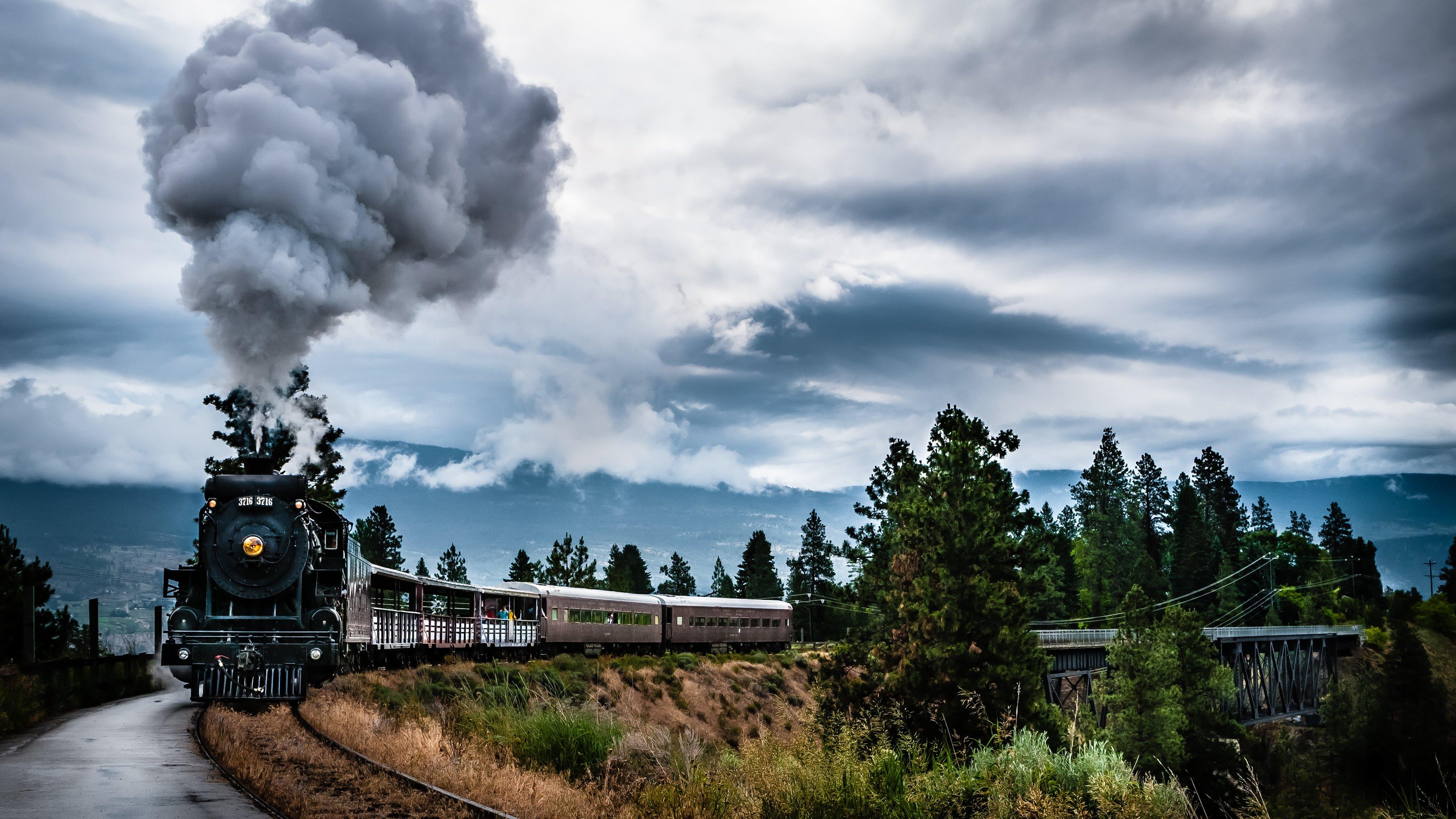 kettle valley steam train hd wallpapers 4k