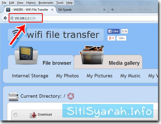 transfer foto dari Android ke laptop lewat wifi